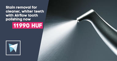 Stain removal for cleaner, whiter teeth with Airflow tooth polishing now 11 990 Huf